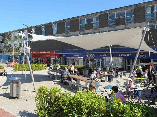 Food court in the town centre
