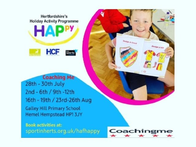 The sport activity programme will be at Galley Hill Primary School