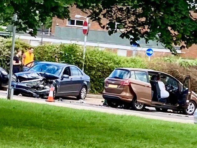 The collision happened around 12.50pm today (C) George Ridgwell