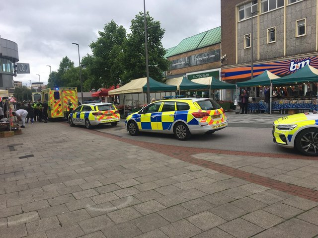 Police and the ambulance service were called to Marlowes (C) Gary Mancey-Jones