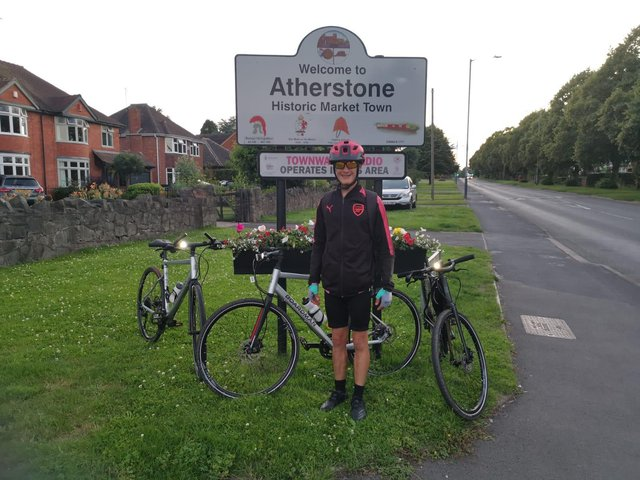 Jamie cycled to Atherstone
