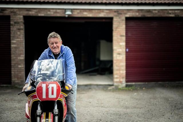 Mick Grant with his Heron Suzuki XR69
